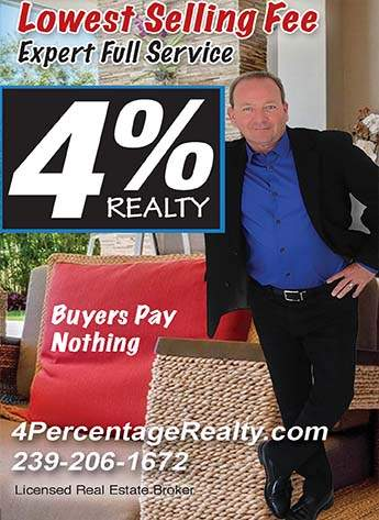 Punta Gorda Real Estate Commissions Only 4% With Four (4) Percent Realty